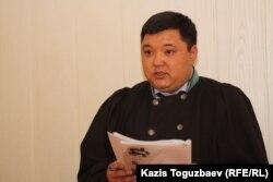 Берик Кузембаев, судья специализированного административного межрайонного суда города Алматы. 12 декабря 2012 года.