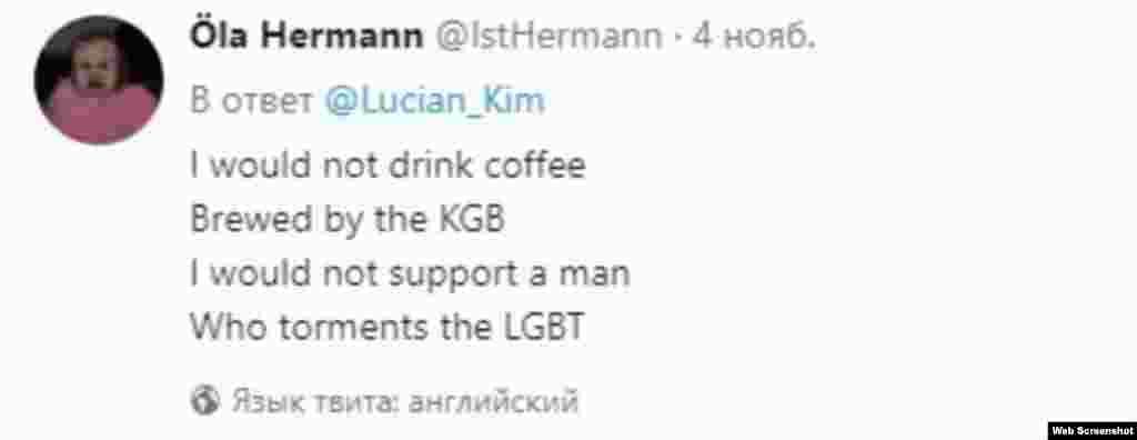 ЕВРОПА - Нема да пијам кафе сварено од КГБ, нема да поддржам човек кој ги малтретира ЛГБ. Ова е еден од неколкуте илјади стихови напишани од различни корисници на социјалната мрежа Твитер на тема Путин. Попиларните твитерџии се во кампања за објавување на стихови за рускиот претседател.