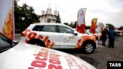 Prezantim i veturave me logon e Lojërave Olimpike Dimërore 2014