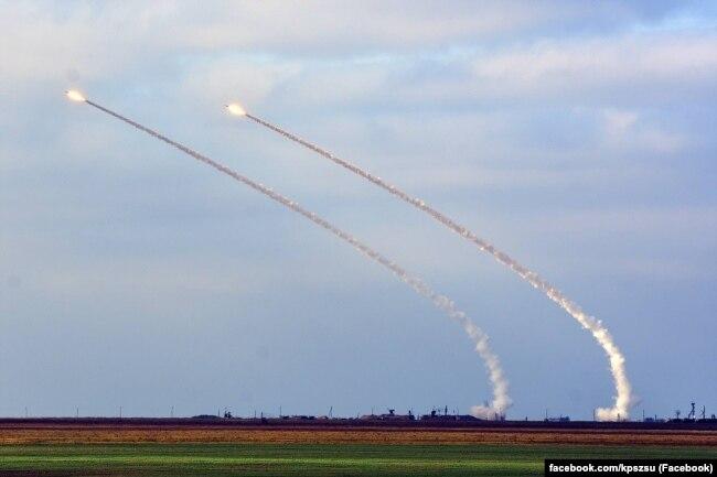 Бойові стрільби зенітно-ракетних комплексів С-300 Збройних сил України на полігоні «Ягорлик», 2 листопада 2018 року