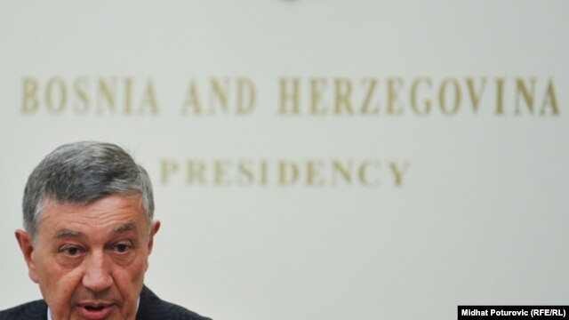 Nebojsa Radmanovic, one of the three members of Bosnia's ethnically based presidency (file photo)