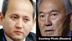 Kazakh President Nursultan Nazarbaev (right) seems determined to punish former minister and banker Mukhtar Ablyazov.