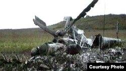 Останки рухнувшего вертолета. Иллюстративное фото.