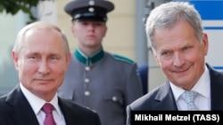 Президент России Владимир Путин и президент Финляндии Саули Ниинисте, Хельсинки, 21 августа 2019 года