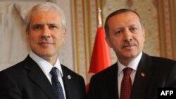 Presidenti i Serbisë, Boris Tadiq, dhe kryeministri i Turqisë, Rexhep Taip Erdogan.