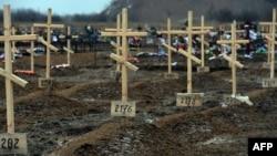 Поховання проросійських бойовиків під Донецьком, 16 лютого 2015 року