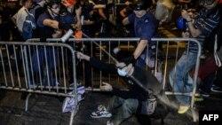 Pamje nga protestat në Hong-Kong