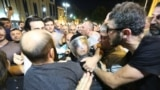 Protesters clashed with riot police during a mass rally in front of parliament in Tbilisi on the night of June 20-21. Hundreds were injured, including dozens of police.