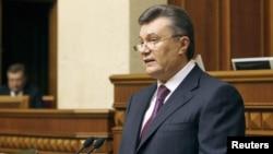 Президент Янукович під час промови на відкритті першої сесії парламенту, 7 лютого 2012 року