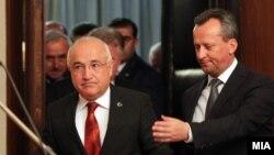 Претседателот на Големото турско национално собрание Џемил Чичек се сретна со претседателот на Македонското собрание Трајко Вељаноски во Скопје.