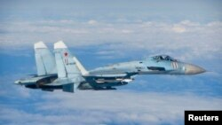 Avion ushtarak rus, foto nga arkivi