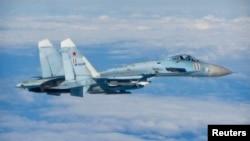 Ռուսական Սու-27 ռազմական օդանավը Բալթյան երկրների սահմաններին մոտ միջազգային օդային տարածքում, հունիս, 2014թ․