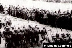 Qafqaz İslam Ordusunun Şamaxıda fəxri keçidi