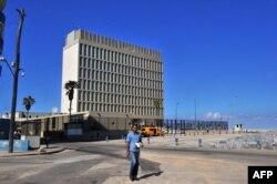 """Здание """"Секции интересов США на Кубе"""", десятилетиями действовавшее при посольстве Швейцарии в Гаване"""