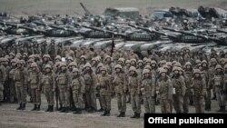 Армия обороны Нагорного Карабаха проводит учения, ноябрь 2014 г․