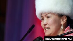 Айтыскер ақын Ақмарал Леубаева. Алматы, 11 ақпан 2012 жыл.