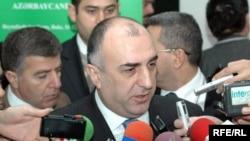 Глава МИД Азербайджана Эльмар Мамедъяров отвечает на вопросы журналистов