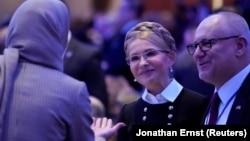 Former Ukrainian Prime Minister Yulia Tymoshenko (center) attends the National Prayer Breakfast in Washington, D.C., on February 8.