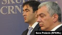 Lideri Pokreta za Promjene i Nove srpske demokratije Nebojsa Medojević i Andrija Mandić.