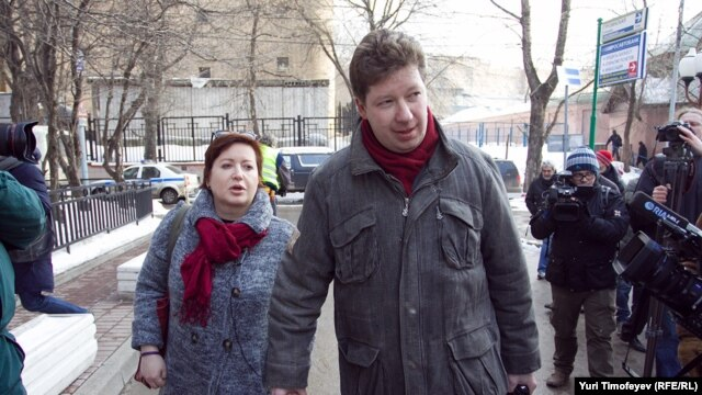 Бизнесмен Алексей Козлов и его жена Ольга Романова