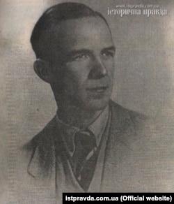 Євген Стахів (1918–2014) – діяч українського підпілля на Донбасі в роки Другої світової війни, член ОУН із 1934 року. Фото 1940-х років