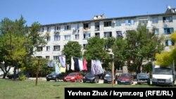 Общежитие в Севастополе на улице Николая Музыки, июль 2019 года