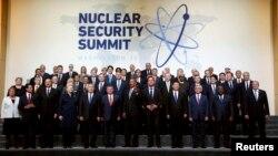 Участники ядерного саммита в Вашингтоне в день его закрытия. 1 апреля 2016 года.