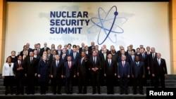 Участники ядерного саммита в Вашингтоне в день его закрытия