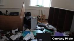 Офіс Комітету проти тортур в Грозному після погрому, 3 червня 2015 року