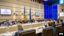 """Ambasadorul SUA la Chișinău, James Pettit, la conferința internațională """"Mass-media din Moldova, audiență și pluralism"""", 14 septembrie 2017"""