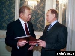 Президент Украины Леонид Кучма и тогда строил «многовекторную» внешнюю политику. К нему приезжал тогда еще премьер-министр России Владимир Путин. Киев, 30 ноября 1999 года