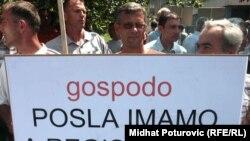 Protest radnika Krivaje, Fotografije uz tekst: Midhat Poturović