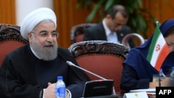 "Iranian President Hassan Rohani said that ""morality does not exist"" in the United States, ""which pretends to have had democracy for 200 years."""