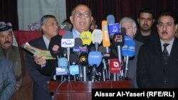 مؤتمر صحفي لحركة الوفاق في النجف