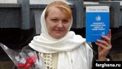 Руководитель правозащитного Альянса Узбекистана, правозащитница Елена Урлаева.