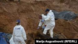 Ekshumacija jedne od masovnih grobnica u Prijedoru, ilustrativna fotografija