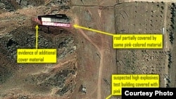Parchin military base, where the UN nuclear watchdog believes Tehran has carried out suspicious explosives testing, 15Aug2012