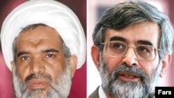 غلامحسين الهام (راست) و عباس کعبی