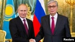 Владимир Путин жана Касым-Жомарт Токаев. Кремль, Москва. 3-апрель, 2019-жыл.