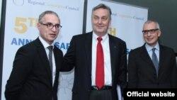 Goran Svilanović, Zlatko Lagumdžija i Stefano Sannino na obilježavanju pet godina rada Vijeća za regionalnu saradnju u Sarajevu