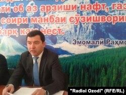 Аъзам Бобоҷонзода, сардори раёсати ҳизи муҳити зисти вилояти Суғд