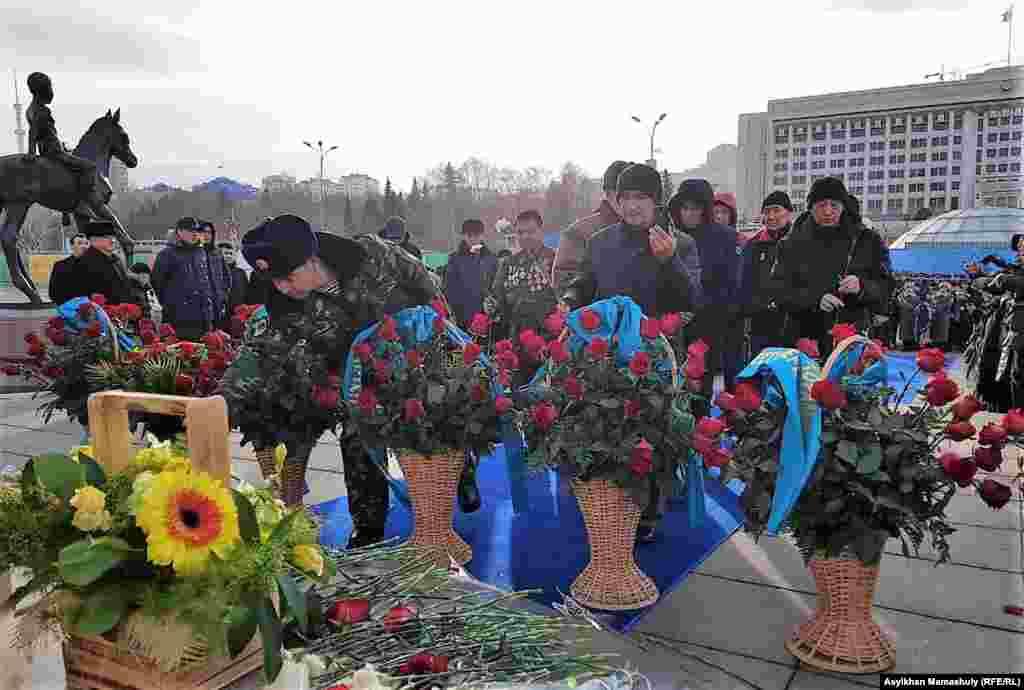 Церемония возложения цветов. Алматы, 16 декабря 2018 года.