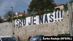 Plakati protiv gradnje na Srđu, Dubrovnik, travanj 2013.