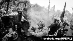 Чорна-белы Майдан. Фота Францішка Вячоркі