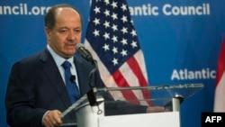 Ирактың Күрд автономиялық ауданының жетекшісі Масуд Барзани. Вашингтон, 6 мамыр 2015 жыл.