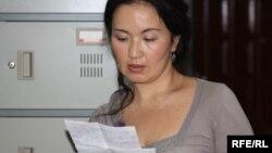 Жайнагүл Айдархан, қазақ диссиденті Арон Атабектің зайыбы. Алматы, 4 маусым 2010 жыл.