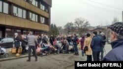 Protest porodilja, Zenica, 15. decembar 2014.