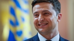 UKRAINE – Volodymyr Zelenskiy, Ukrainian comic actor and candidate in the upcoming presidential election, takes part in a production process of Servant of the People series in Kyiv, March 6, 2019
