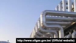 Газокомпрессорная станция в Лебапском велаяте Туркменистана.
