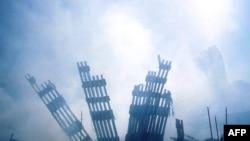 Руины Всемирного торгового центра в Нью-Йорке